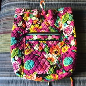 Vera Bradley drawstring book bag